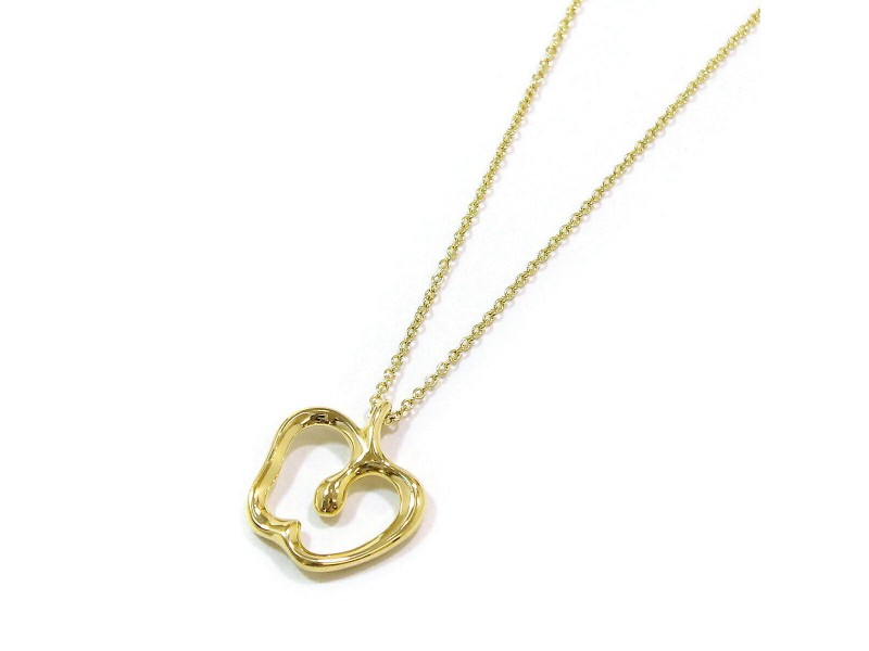 Tiffany & Co. 18K Yellow Gold Apple Motif Necklace