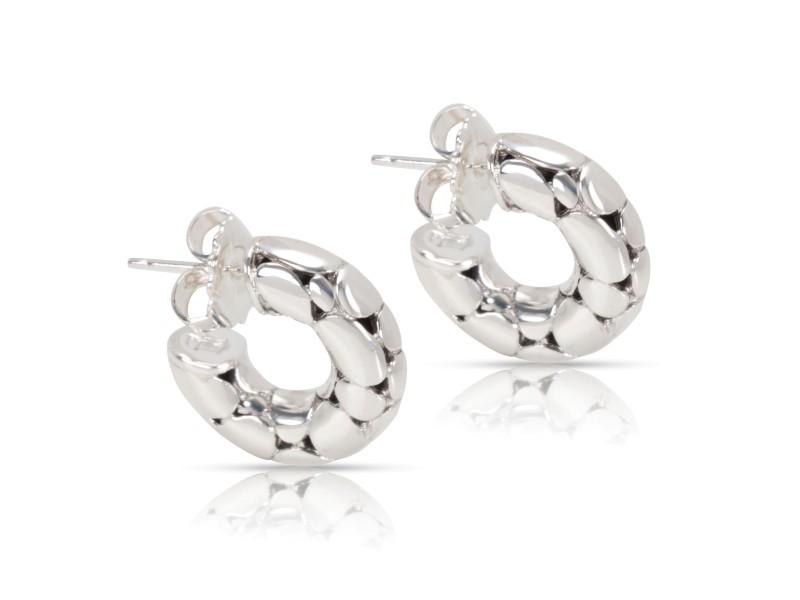John Hardy Hoop Sterling Silver Earrings