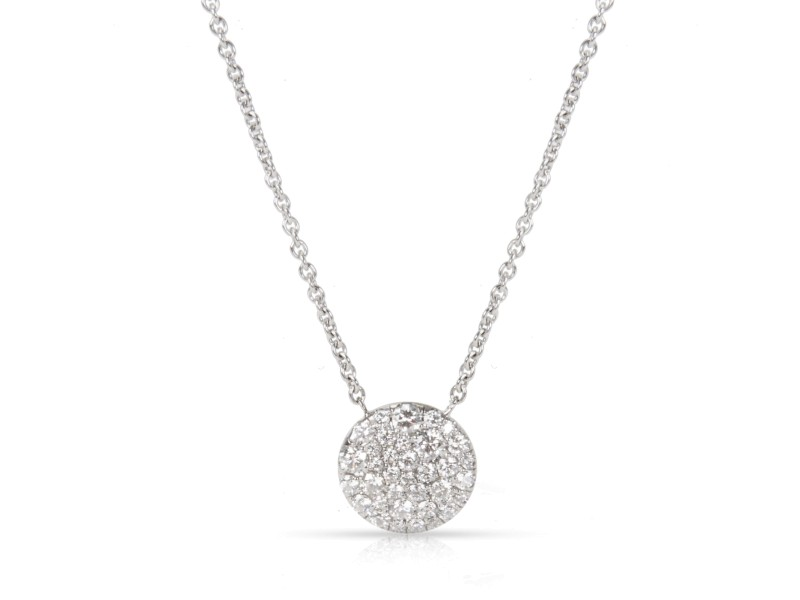 Tiffany & Co. 18K White Gold 0.29ctw. Diamond Pendant Necklace