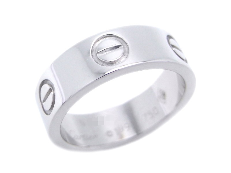 Cartier Love Ring 18K White Gold Size 4.75