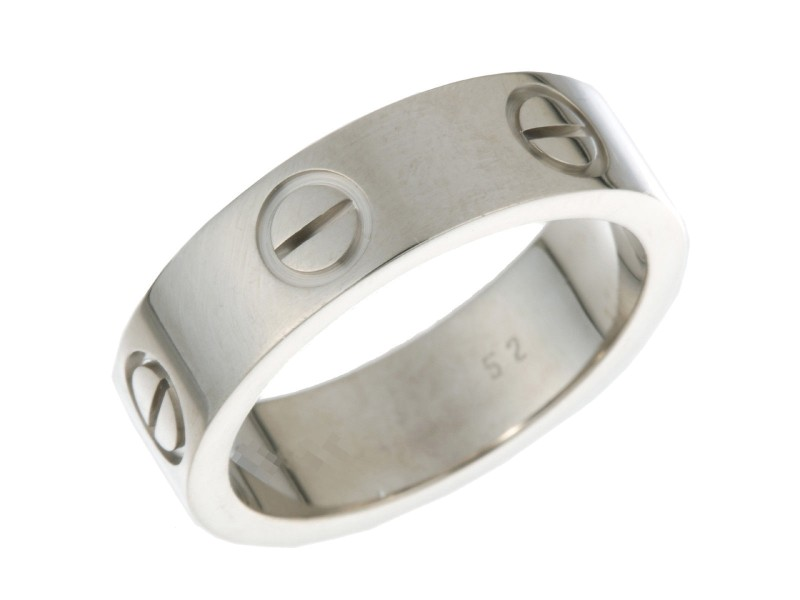 Cartier Love Ring 18K White Gold Size 6