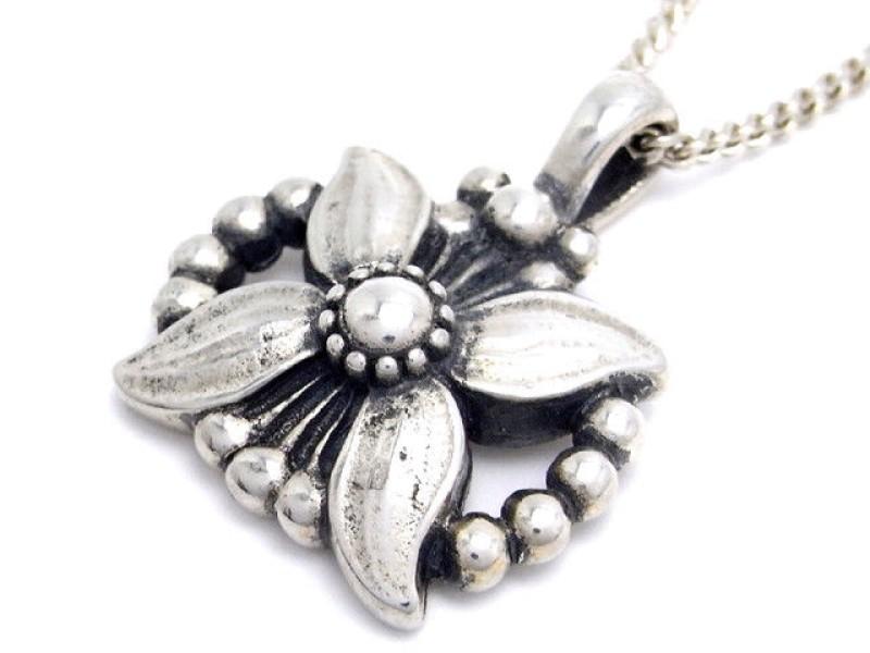 Georg Jensen 925 Sterling Silver Pendant Necklace