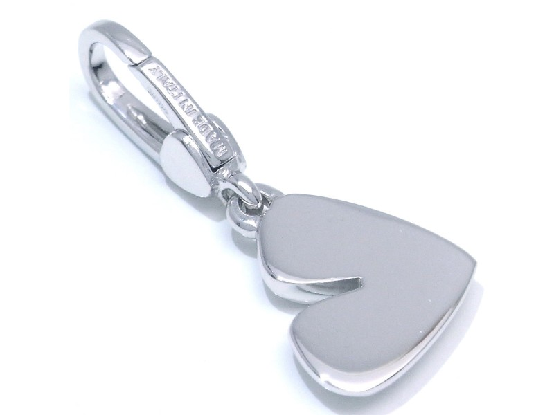 Bulgari 18K White Gold Heart Charm Pendant