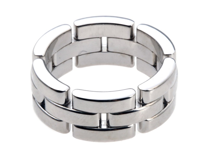 Cartier Maillon Panthere Ring 18k White Gold Size 6.25