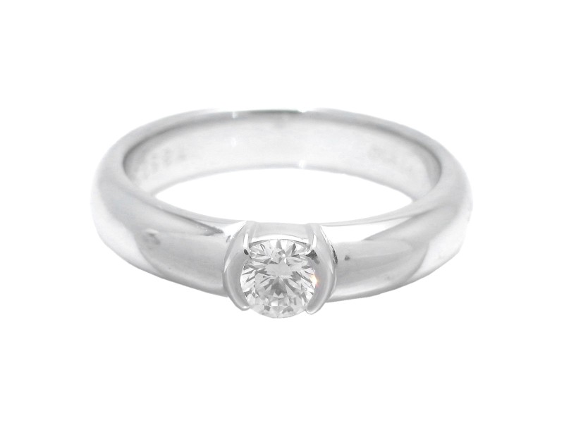 Tiffany & Co. Dots Diamond Platinum Ring Size 4.75