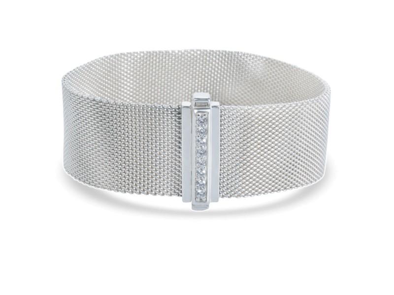 Tiffany & Co. Sterling Silver Diamond Bracelet