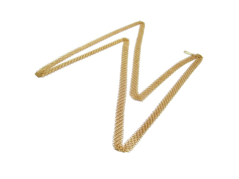 Tiffany & Co. 18K Yellow Gold Mesh Necklace