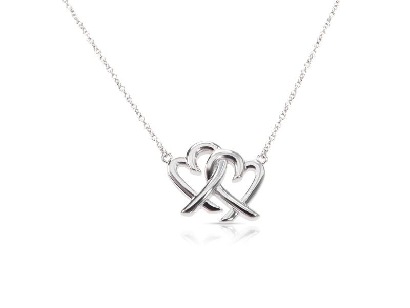 92712e907 Tiffany & Co. Paloma Picasso Loving Heart Interlocking Sterling Silver  Pendant
