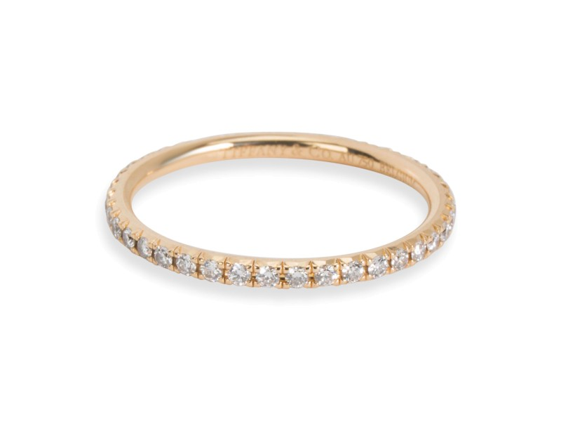 Tiffany & Co. Metro Diamond Band in 18K Yellow Gold 0.19 CTW