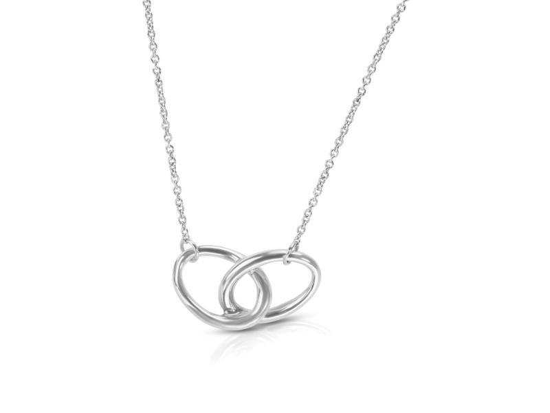 Tiffany & Co. Elsa Peretti Interlocking Ovals Necklace in Sterling Silver