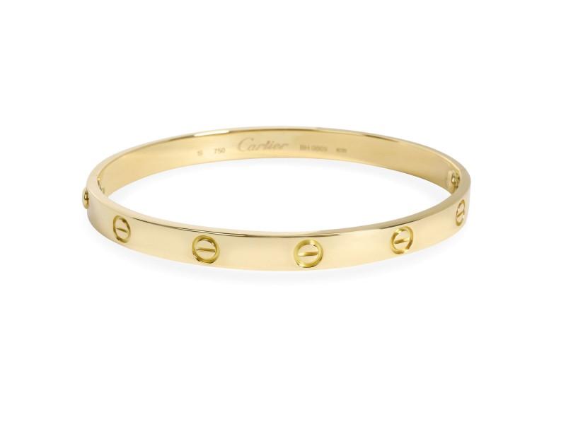 Cartier Love Bracelet In 18k Yellow Gold Size 19