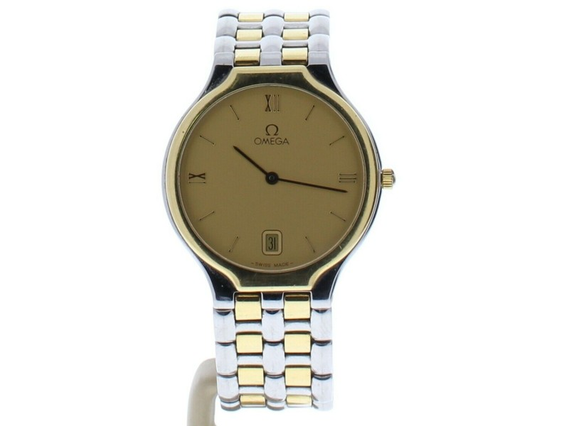 Omega Quartz Champagne Dial Womens Watch 1440