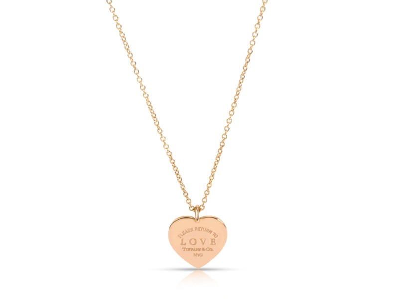 Tiffany & Co. Return to Love Diamond Heart Pendant in 18K Rose Gold 0.15 CTW