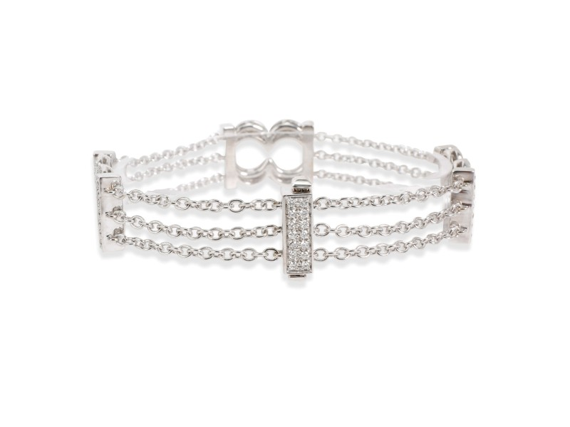 Bedat and Co. Orianne Collins Diamond Bracelet in 18K White Gold 1.5 CTW