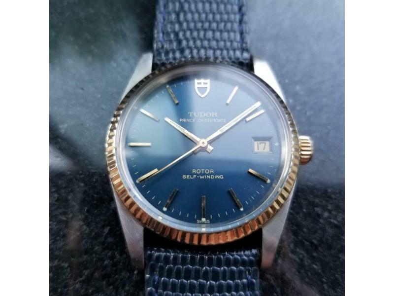 Men's Tudor 14K Gold & SS Prince Oysterdate ref.74033 Automatic c.1990s LV714BLU