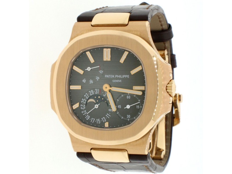 Patek Philippe Nautilus 18K Rose Gold 40MM Mens Watch 5712R-001 Box & Papers