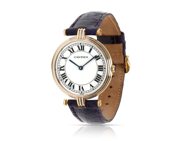 Cartier Vendome 8988 Women's Watch in 18K 3 Tone Gold