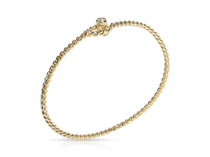 Tiffany & Co. Rope Twist Diamond Bangle in 18K Yellow Gold 0.10 CTW