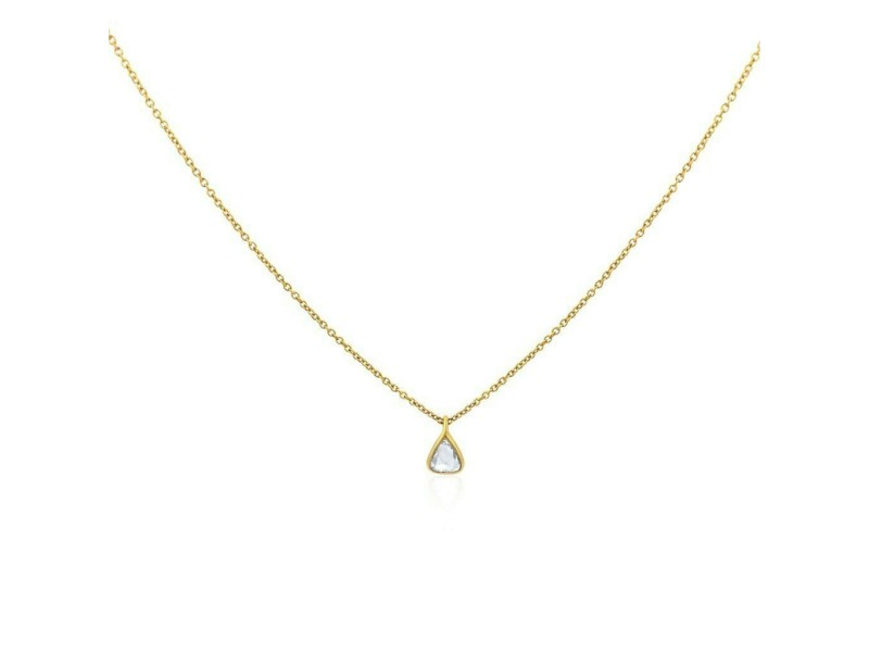 Rock & Divine Dawn Collection Sun Drop Diamond Necklace 18K Yellow Gold 0.25 CTW
