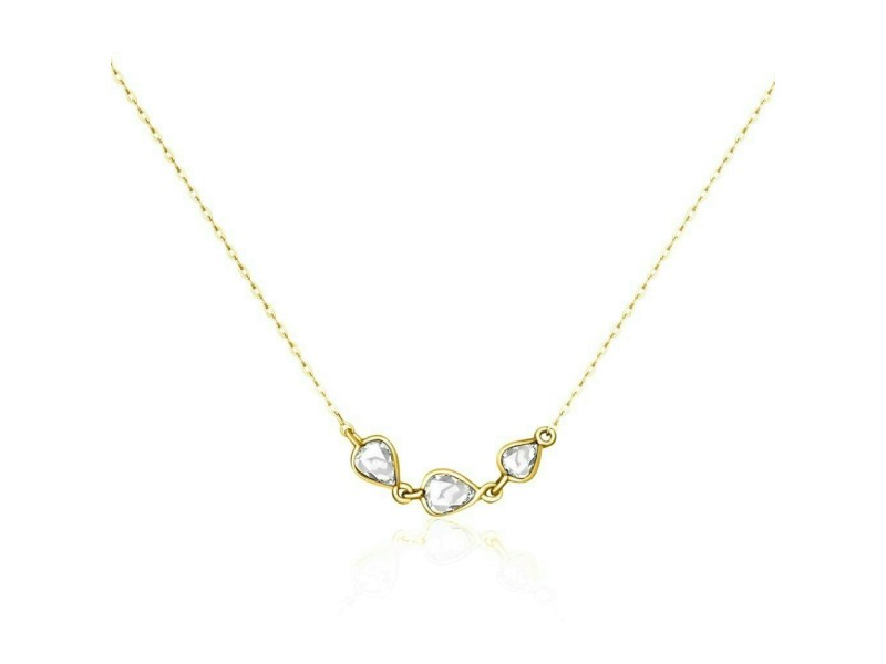 Rock & Divine Dawn Collection River Of Pears Diamond Necklace 18K Gold 0.19 ctw