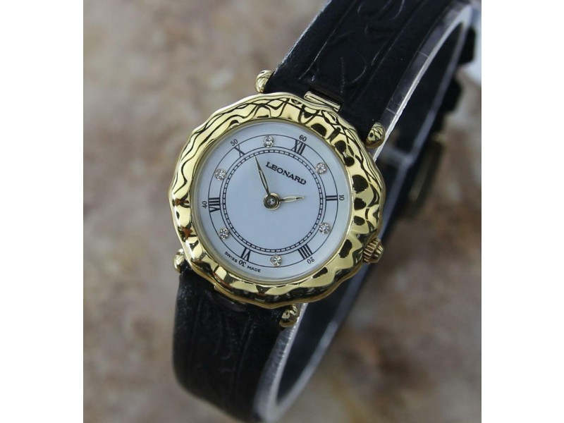 Ladies Leonard Quartz Diamond Dress Watch, c.2000s Swiss J835