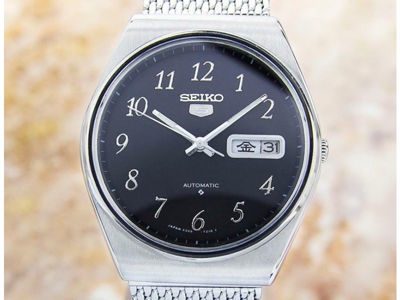 Mens Seiko 5 Sports 37mm Day Date Automatic, c.1970s Vintage JA50