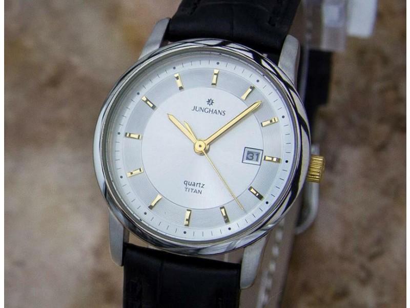 Ladies Junghans Titan 29mm Quartz Dress Watch w/Date, c.2000s German Made Y133