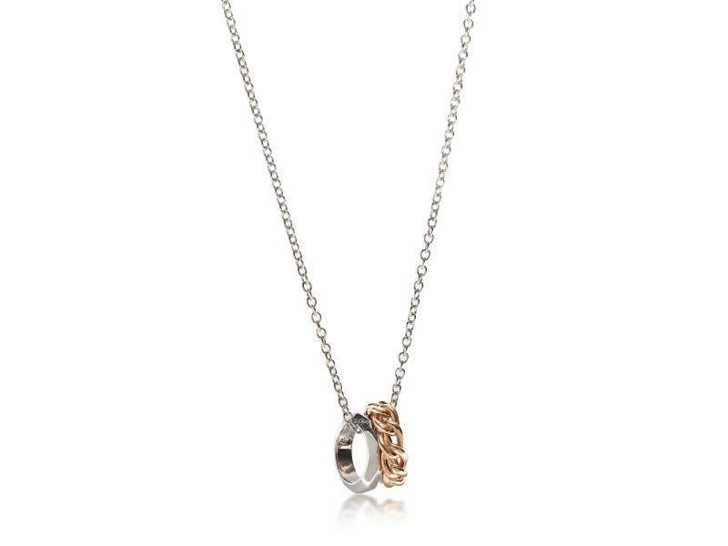 Pomellato Milano Necklace in 18K White & Rose Gold