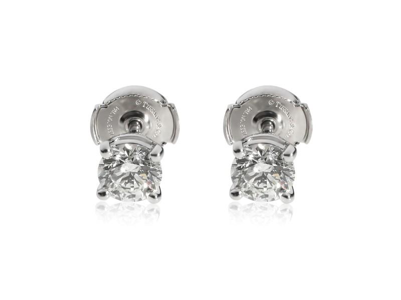 Tiffany & Co. Diamond Stud Earring in  Platinum 1.32 CTW