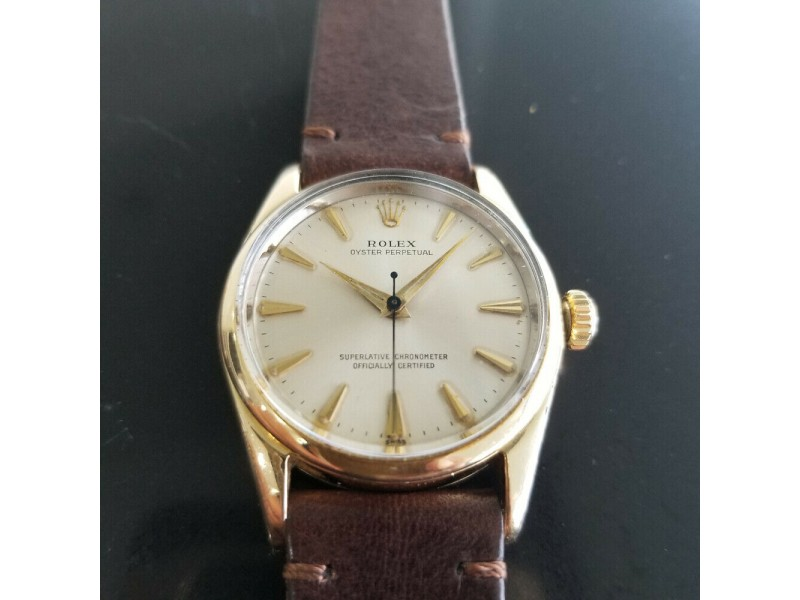 Mens Rolex Oyster perpetual Ref.1014 34mm Gold-Capped Automatic, c.1960s RA142