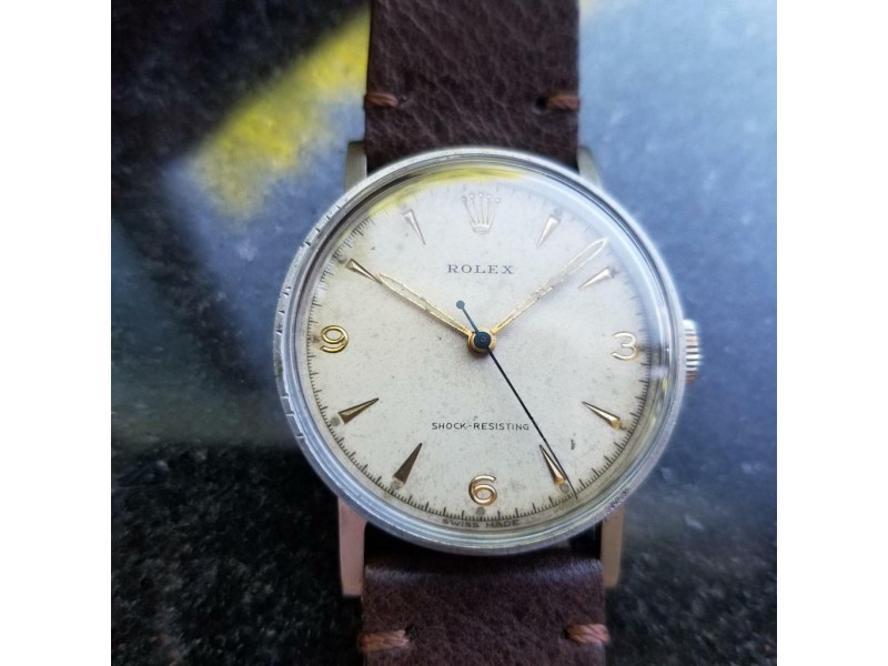 Mens Rolex Ref.3742 33mm Manual Wind 1930s Military Watch Rare Vintage MS101