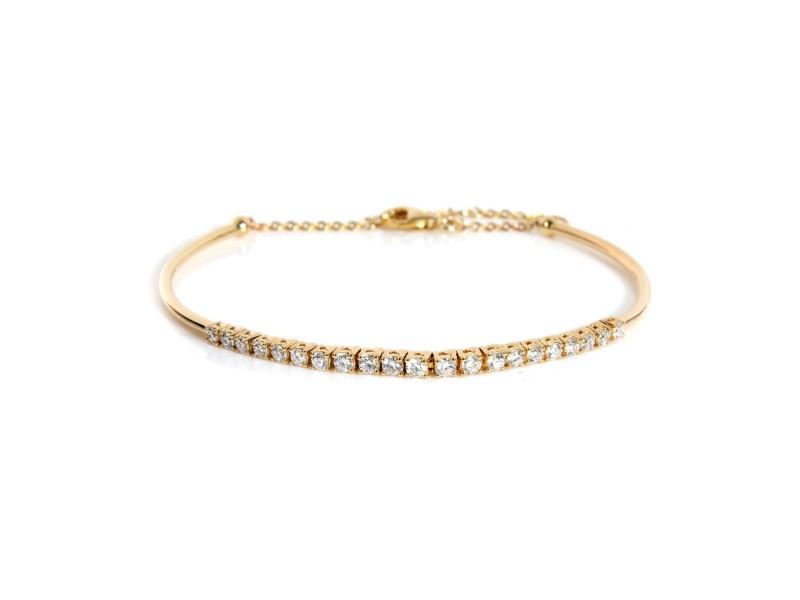 Diamond Bangle Bracelet in 14KT Yellow Gold 0.53 ctw