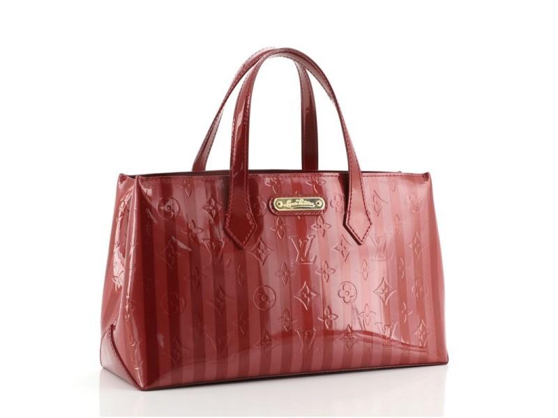 Louis Vuitton Wilshire Handbag Limited Edition Monogram Vernis Rayures PM
