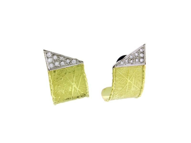 Unoaerre 18K Yellow & White Gold Diamond Earrings