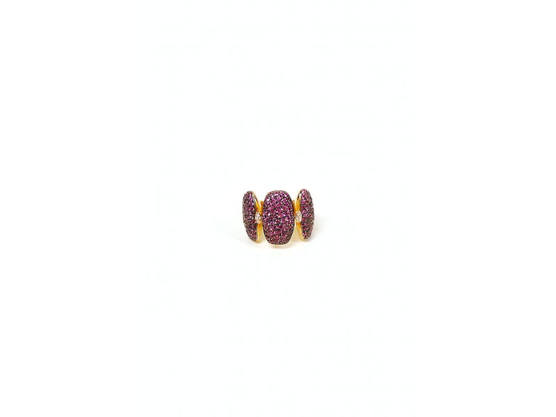 De Grisogono 18K Rose Gold And Pink Sapphire Ring