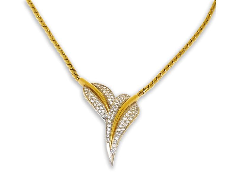 Milro 18K Yellow Gold Pave Diamonds Pendant Necklace