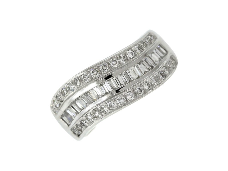 Bellarri Solid 18K White Gold Diamond Band Ring