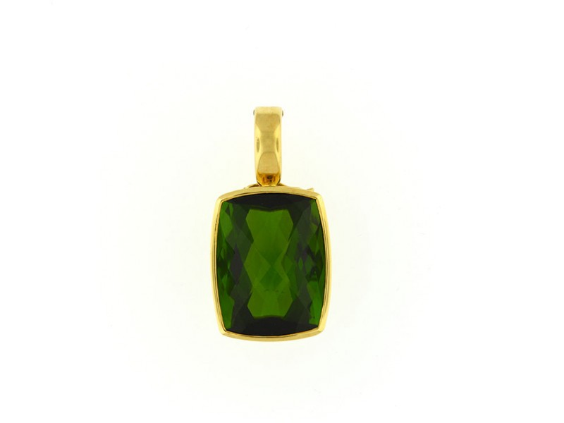 18K Yellow Gold And Tourmaline Pendant