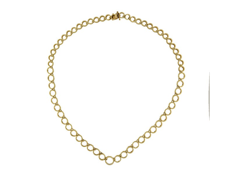 14K Yellow Gold Chain Pendent Necklace