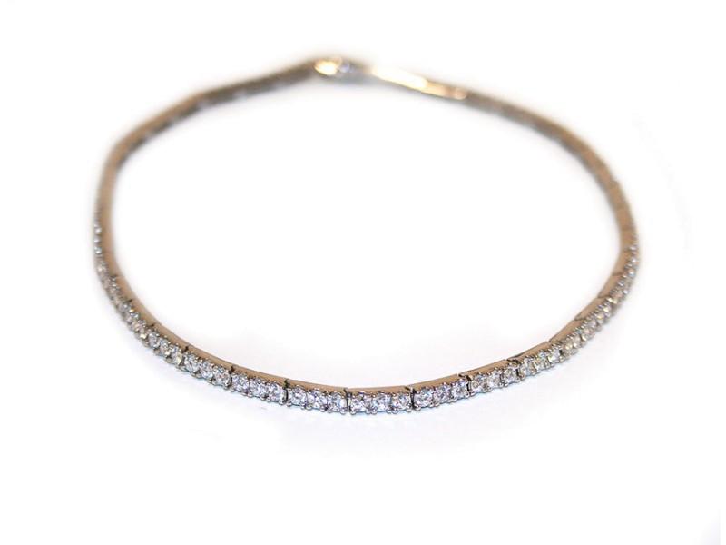 14K White Gold & Diamonds Necklace