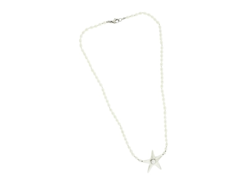 Tiffany & Co. 925 Sterling Silver Pearl Starfish Necklace