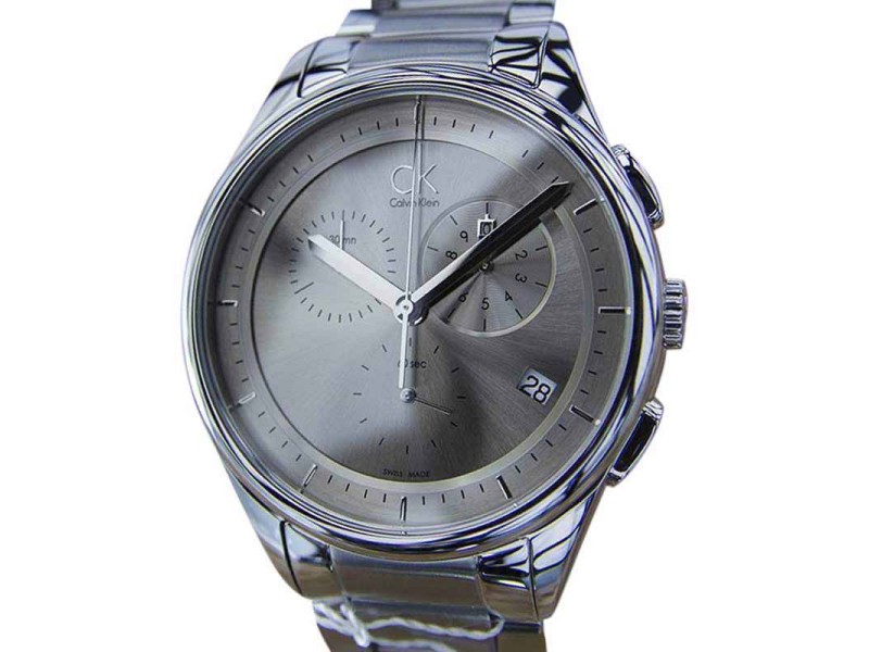 Calvin Klein Stainless Steel Gray Dial Quartz 44mm Mens Watch
