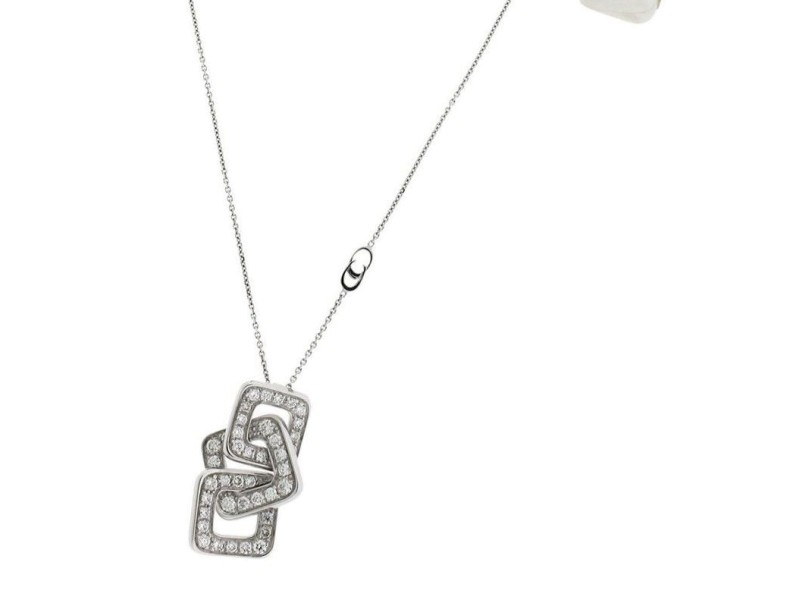 Chimento 18K White Gold Link Diana .92ct Diamond Necklace