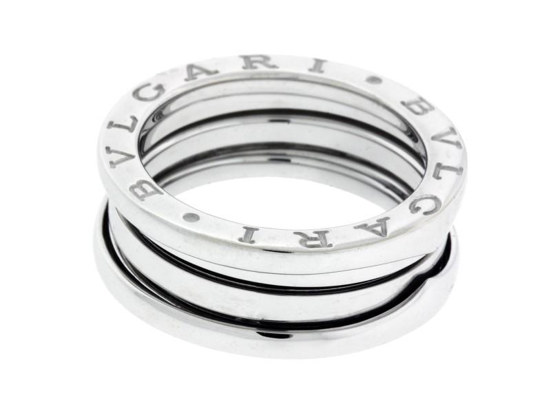 Bulgari B.Zero 1 18K White Gold 3 Band Ring Size 5.5