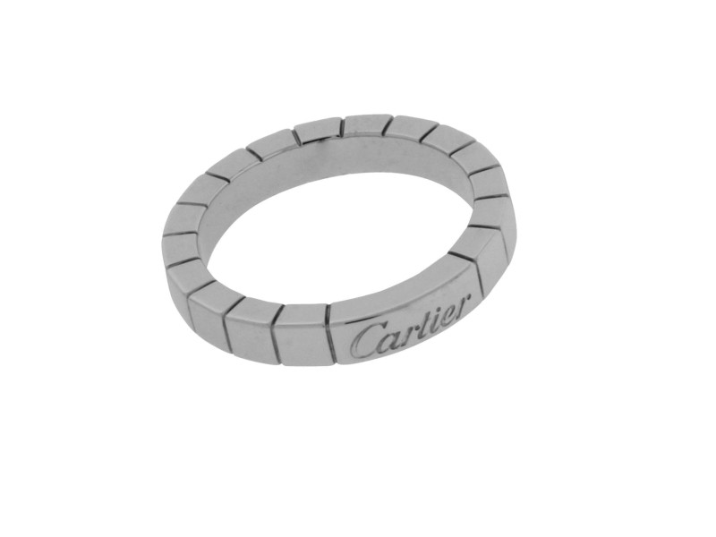Cartier Lanieres 18K White Gold Band Ring Size 6