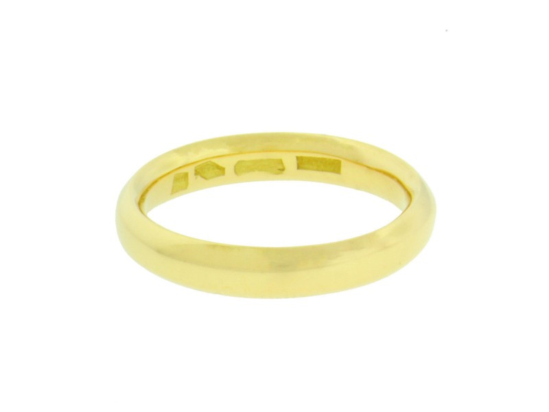 Bulgari 18K Yellow Gold Band Ring Size 6.75