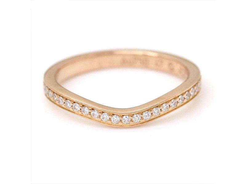Cartier Ballerine 18K Pink Gold with Diamond Ring Size 4