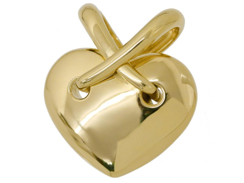 Chaumet 18K Yellow Gold Heart Pendant