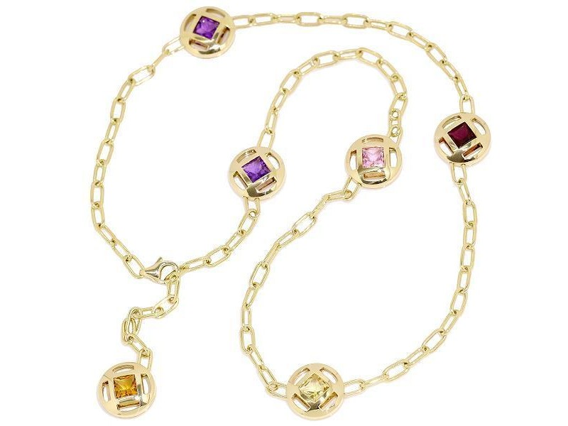 Cartier Pasha 18K Yellow Gold with Multi-Stone Necklace