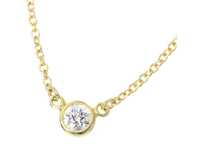 Tiffany & Co. 18K Yellow Gold & Diamond By The Yard Necklace